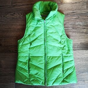 Kenneth Cole Reaction Apple Green Puffer Vest Sm…